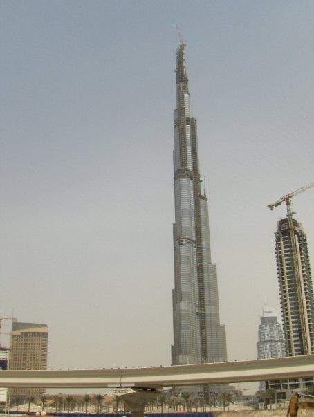 Burj Kalifah being built Dubai 2008