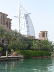 View of Burj Al Arab from Madinat Jumeirah Dubai 2005