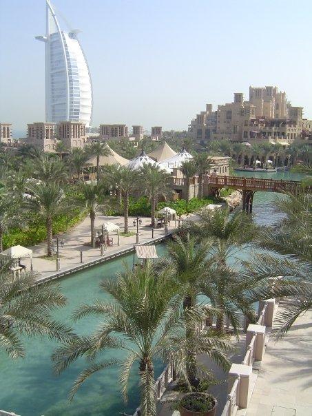 View of Burj Al Arab from Madinat Jumeirah Dubai 2005