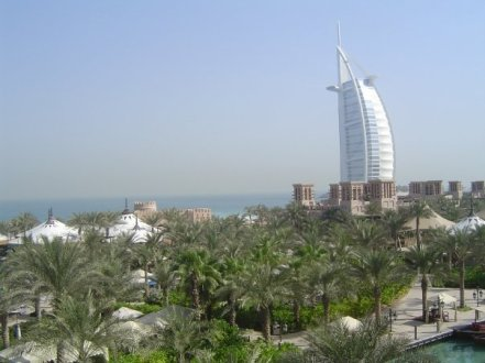 View of Burj Al Arab from Madinat Jumeirah DubaiDubai 2005