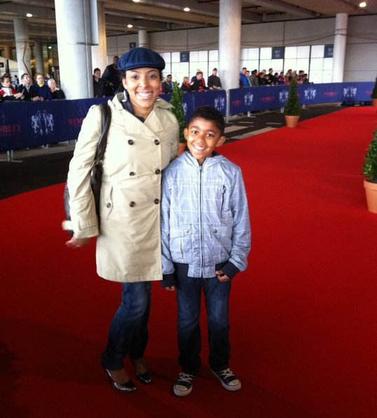 On the Red Carpet at Wembley