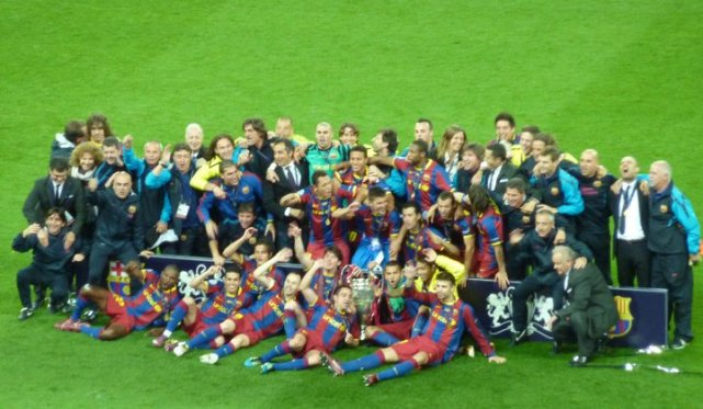 The team celebrating