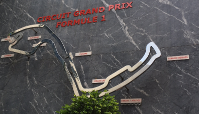 The F1 track map
