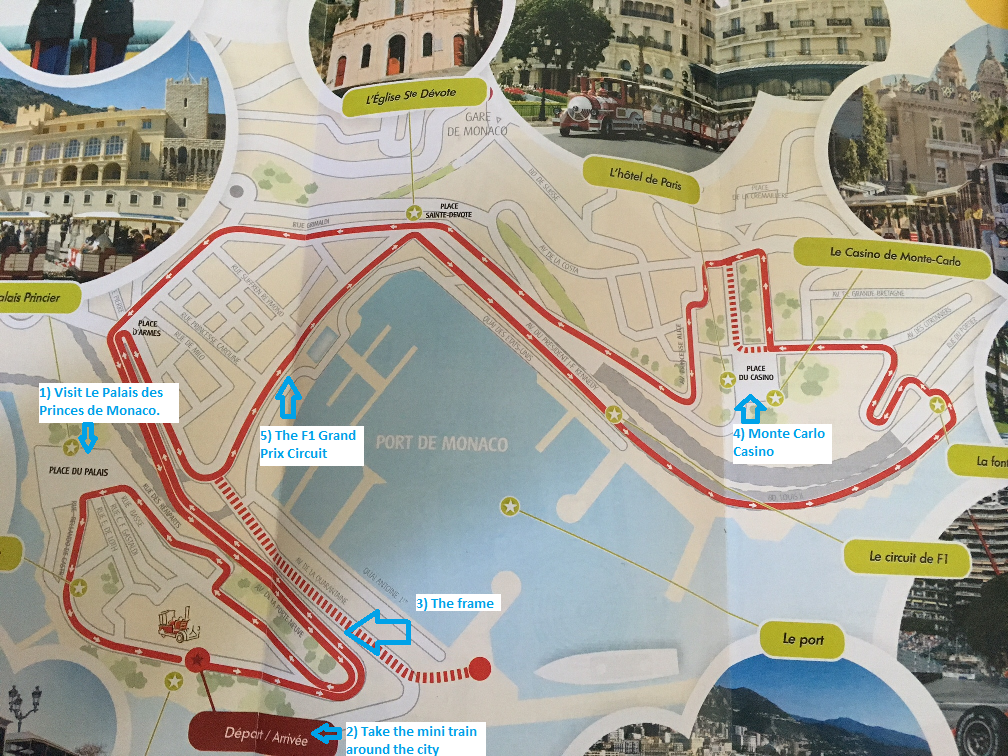 Monaco Map of the city at www.mywonderfulworld.co.uk