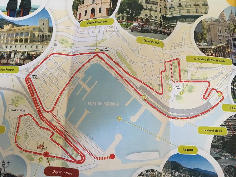 Monaco Tours map at www.mywonderfulworld.co.uk